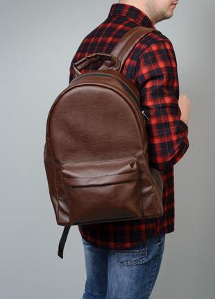 Мужской коричневый вместительный рюкзак
