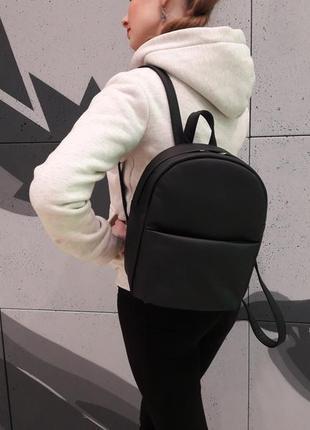 Женский черный рюкзак для учебы, кожзам
