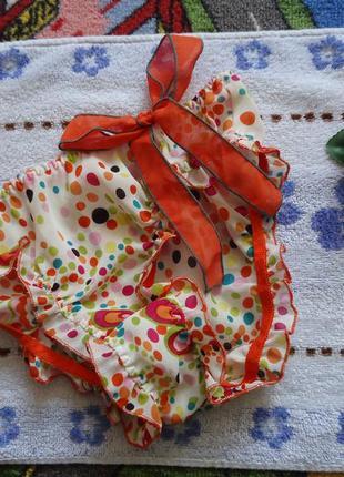Яркие трусики з бантиком в бабочки