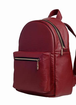 Качественный женский рюкзак портфель марсала