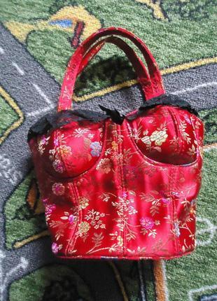 Сумка корсет / оригинальная сумка клатч в форме корсета