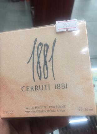 Туалетна вода для жінок cerruti 1881 pour femme 50 мл
