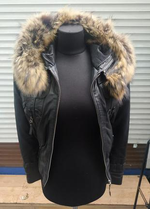 Утепленная кожаная куртка
