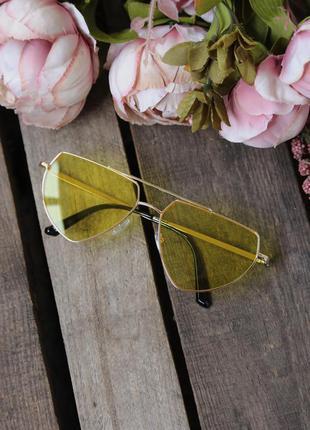 Новые жёлтые солнцезащитные/имиджевые очки