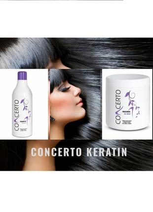 Восстанавливающий комплекс для волос шампунь + маска с кератин...