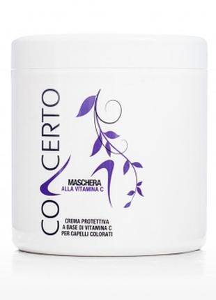 Маска для окрашенных волос с витамином с италия concerto prote...