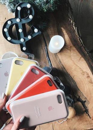 Силиконовый чехол Silicone case для iPhone 8/8+