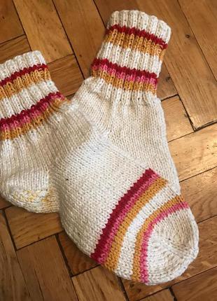 Теплые,вязанные носки,ручная вязка