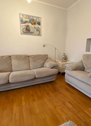 Раскладной диван + кресло