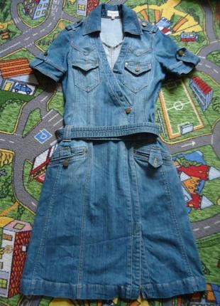 Брендовое джинсовое платье сарафан