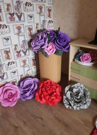 Изготовление ростовых цветов под заказ