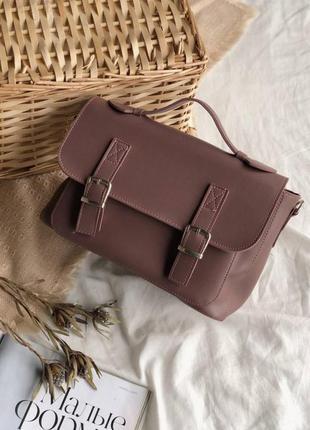Женская темно пудровая сумка портфель пудровый клатч портфель ...