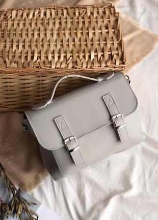 Женская серая сумка портфель серый клатч портфель серая наплеч...