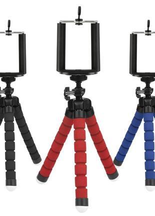 Гибкий штатив трипод для фото и видеокамеры + держатель для те...