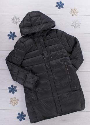 Женская зимняя черная куртка