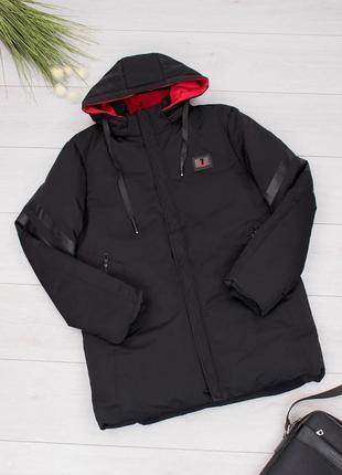 Мужская зимняя черная куртка