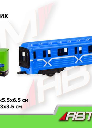 Металлическая модель метро, вагон метро