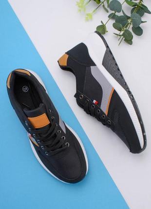 Мужские черно-серые кроссовки