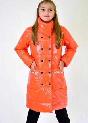 Демисезонное пальто для девочки мэри.р.134-152