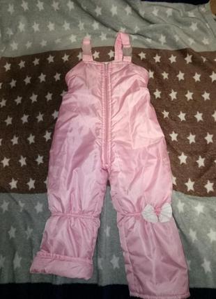 Зимние теплые штаны полукомбинезон