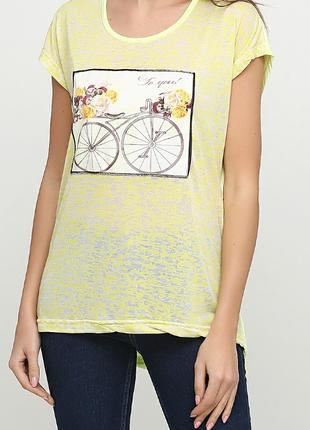 Желтая футболка с рисунком ТМ Diyamor