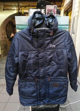 Куртка парка зимова пуховик зимова чоловіча куртка pitt blue 2...