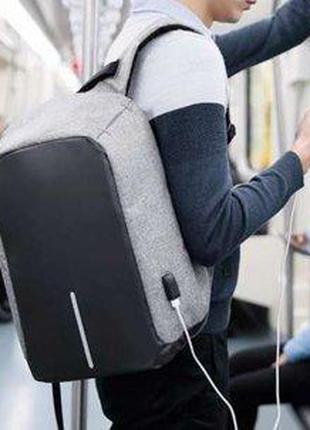 Рюкзак Bobby с защитой от карманников антивор+USB разъем.