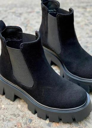 Демисезонные ботинки челси на платформе хит 2020 размеры 36-41