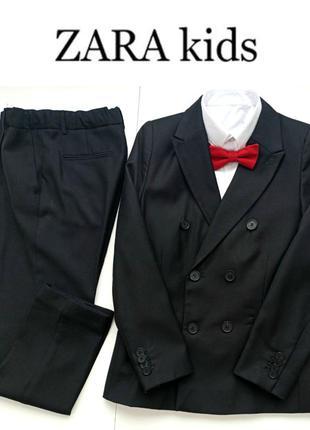 Черный костюм zara из лимитированной серии,140 размер,10 лет