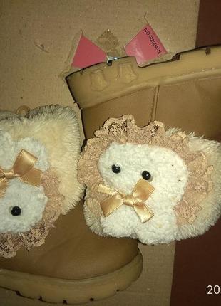 Детские зимние сапоги для девочек