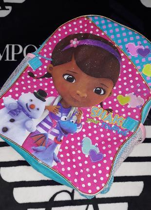 Рюкзак детская сумка сумочка доктор плюшева