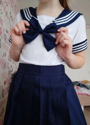 Японская школьная форма, юбка блузка, косплей аниме к-поп k-po...