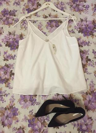 Новая фирменная блуза в бельевом стиле River Island, размер M/L