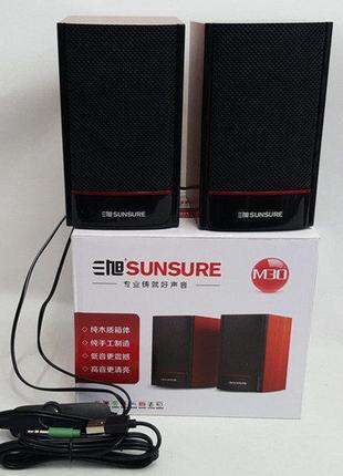 Колонки 2.0 компьютерный пассивные Sunsure M-30