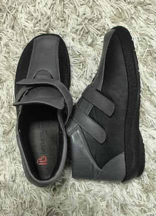 Фирменные кожаные ортопедические туфли ботинки berkemann{герма...