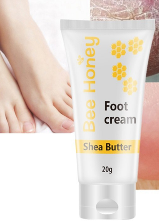 Крем для ног с медом и маслом ши