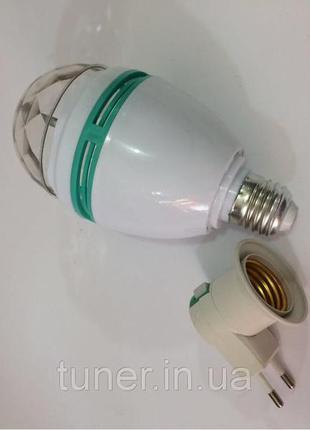 Диско лампа цветная 3Вт E27 RGB LM337