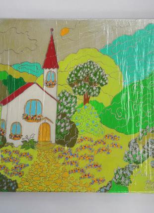 Картина  на холсте с подрамником 35х35