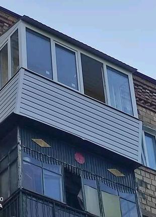 Ремонт лоджий и балконов. Установка МП окон