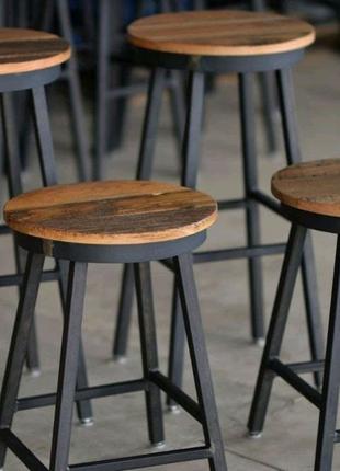 Барные стулья барные стойки в стиле лофт из металла под заказ