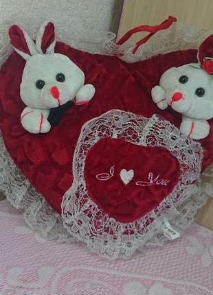 Сердце мягкая игрушка подушка из англии