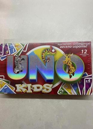 Детская настольная карточная игра уно uno kids