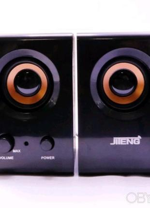 Колонки Jiteng D99A Черно-фиолетовые