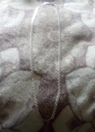 Толстая серебрянная мужская цепочка