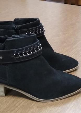 Эксклюзивные дизайнерские трендовые кожаные замшевые ботинки в...