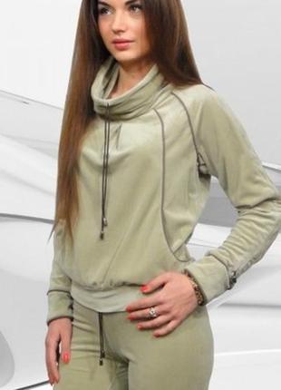 Велюровый спортивный костюм, кофта/брюки