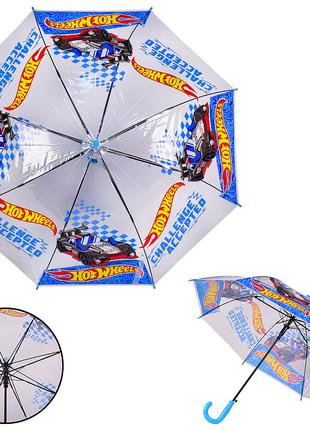 Зонтик для мальчика Хот вилс, зонт для мальчика Hot Wheels