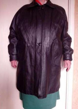 Новая женская кожаная куртка с меховой подстежкой