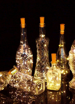 Гирлянда декор led лампы пробка