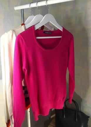 Ярко розовый свитер 70% шерсть мериноса 30% кашемир woolovers ...